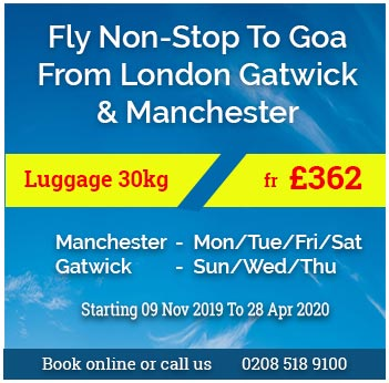 Fly non stop to GOA